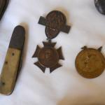 Bone Pocket Knife and Civil War Reunion Medals belonging ot Andrew Jackson Moss