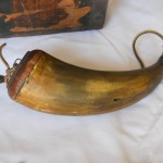 Powder Horn carried by Private Andrew Jackson Moss/ leather strap added later