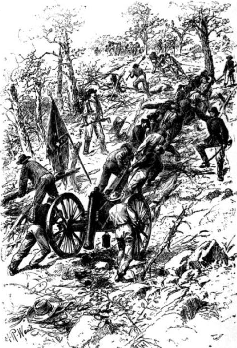 Confederate Troups Dragging Guns UpKenesaw Mountain